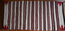 Old large early Navajo rug, blanket Native American colorful textile, weaving