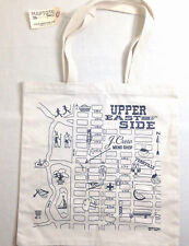 NWT J. CREW MAPTOTE MAP TOTE CANVAS BAG SHOPPER UPPER EAST SIDE CENTRAL PARK
