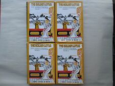 THE GOLDEN LOTUS Chinese Classics in English 4 BOOK SET Chin P'ing Mei EGERTON