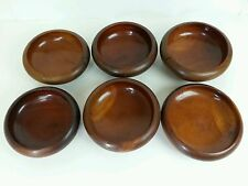 (6) Vintage Hand Crafted Wooden Bowls, Salad Rice, Dough, Home Decor, Old