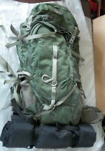 KELTY COYOTE Adjustable Size FOREST GREEN BackPack W/ Tent AIR MATTRESS Camp Kit