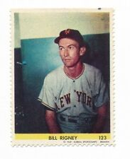 1949 Eureka Sportstamps #123 BILL RIGNEY (New York Giants) -Set Break
