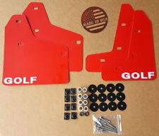 [SR] Mud Flaps Set RED w/ Hardware Kit & Logo for 10-14 VW MKVI MK6 Golf GTI