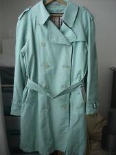Authentic Burberry Women's Pistachio Green Two Button Trenchcoat - Sz L
