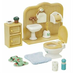 Sylvanian Families Calico Critters Bathroom Toilet Set