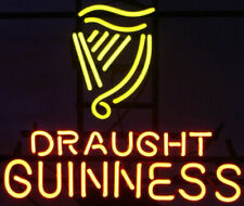 """New Guinness Draught Neon Light Sign 24""""x20"""" Lamp Poster Real Glass Beer Bar"""