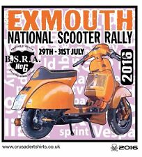 EXMOUTH 2016 SCOOTER RALLY RUN  PATCH BSRA MOD SKINHEADS SCOOTERIST SCOOTER BOYS