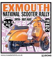 EXMOUTH 2016 SCOOTER RALLY RUN  PATCH MODS SKINHEADS SCOOTERIST SCOOTER BOYS