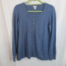 LL Bean Women's Sweater Size S Blue Pleated Soft  Long Sleeve EUC