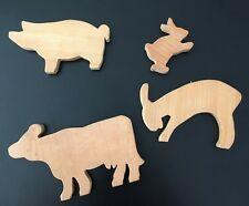 Animals Wooden Shapes to paint