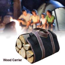 Firewood Storage Bag Canvas Log Carrier Wood Water Resistant Heavy Duty AU