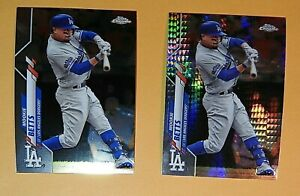 Lot (2) MOOKIE BETTS 2020 Topps Chrome XFRACTOR Mega Box Exclusive Dodgers Star