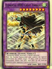 YU-GI-OH - 1x Elemental Hero Great Tornado-SDHS-Structure Deck Hero Strike