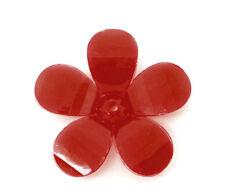 10 x RED PETAL SPRING FLOWER BEADS + 30mm - UK SELLER - SAME DAY FREE  POST