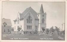 Rppc The First M.E. Church Twin Falls Id Idaho Mb Martin Photo Postcard ca 1910s