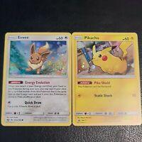 Pokemon TCG Pikachu SM157 and Eevee 101a/149 Sun & Moon Promo Near Mint 💎
