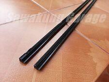 "2Pcs Car Superior Quality Silicone Wiper Blade [Refill] 28"" (8mm) Black Color"