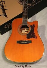 GIBSON Epiphone Masterbilt DR-500MCE Acoustic-Electric Guitar Natural Stereo Out