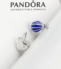 Balloon & Heart Stud Earrings 298058Cz Pandora Silver 925 Ale Blue Hot Air