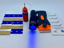 Glass Furniture Repair Set with 10g UV Glue, Squeezable Bottle, 9 LED UV Torch