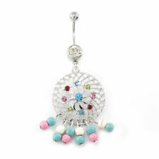 Dreamcatcher Dangling Belly Button Ring 14g Surgical Steel