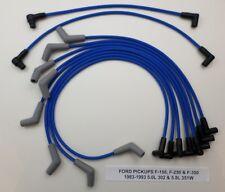 FORD Pickups F-150-250-350 1983-1993 5.0L/302, 5.8L/351W Blue Spark Plug Wires