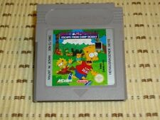 Bart Simpsons escape from camp Dames gameboy color u