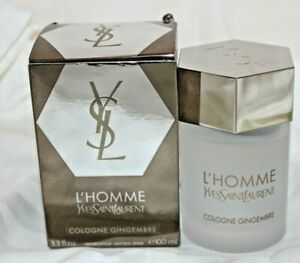 YSL Yves Saint Laurent L'homme Cologne GINGEMBRE 3.4 OZ 100 ml NEW IN BOX