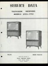 Super Rare Orig Canadian Philips Rogers Majestic TV Service Manual 3721 7721