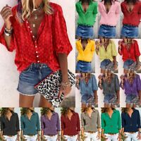 Donne Estate Tops floreale Turn Down Collar Camicia Ladies Holiday BlosT Camicia