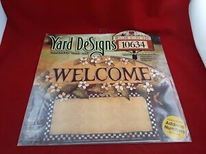 Yard DeSigns Magnetic Yard Art Sign WELCOME  W/ Address Numbers