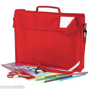 QUADRA CLASSIC SCHOOL BOOK BAG WITH STRAP IN 5 GREAT COLOURS QD457
