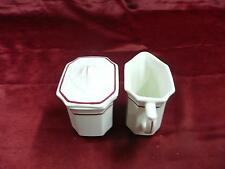 Syracuse China cream and sugar mugs porcelain dishes home tea coffee drink cups