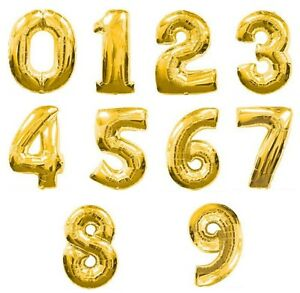 """40"""" Table Numbers Floating Balloon For Wedding Centerpieces Birthday Party Decor"""