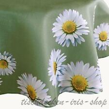 Mantel alrededor de 150 cm de fácil lavado verde oliva margaritas mantel Jardín de verano