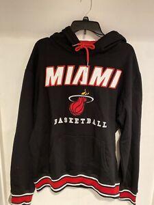 UNK NBA Mens Poly Fleece Hooded Sweatshirt Miami Heat Size L hoodie