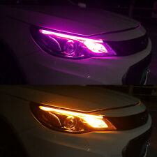 2Pcs 60CM Ultra Thin LED Daytime Running Light Car Headlight Led Strip Soft Tube
