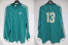 Maillot ADIDAS porté n°13 vert vintage trefoil shirt manches longues trikot L
