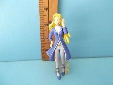 "Sakura Wars Character 4""in PVC Figure Sexy Blue Coat Blonde Hair Blue Eyes Sega"