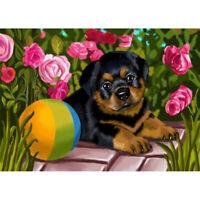 5D DIY Diamond Painting Flower Dog Cross Stitch Embroidery Mosaic Craft Kit Home
