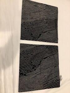 New TWO Restoration Hardware Ratti Hand Screened Velvet Pillow Covers $ 618