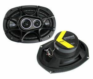 "41DSC6934 D-Series 6x9"" 360 Watt 3-Way Car Audio Coaxial Speakers 2) New Kicker"
