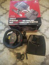 Logitech Momo Racing Force Feedback Wheel Brake Pedals USB. Original box.