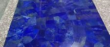 12 3/8 Inches x 22 Inches Marble Lapis Lazuli Coffee Table Handmade Table Top