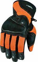 Herren Motorrad Sommer Handschuhe Biker Motorrad Sommer Handschuhe Orange