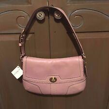 NWT COACH HML Violet Purple Leather Sm Flap 11542 $265