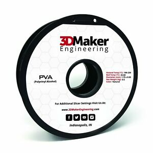 PVA Pro Series Dissolvable 3D Printer Filament - 3DMaker Engineering