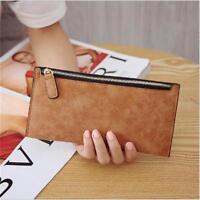 New Womens Fashion Clutch Zipper Leather Long Handbag Lady's Wallet Coin Purse