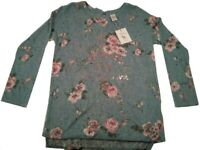 Disney Bambi Blue Pink Floral Pullover Shirt Sweater LC Lauren Conrad Women S