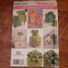 Simplicity Pattern 4800 Gift Packaging And Stationary
